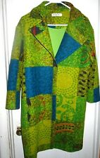 Gorgeous FUN Colorful Qinpei.er  Wool Blend Coat  Size Small