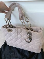 100% Authentic Dior tote bag dusty pink soft leather