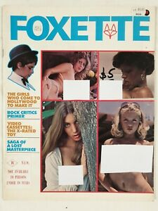Rare Vintage Foxette Magazine Volume 1, no 5 ,Featuring Actress Nancy Suiter