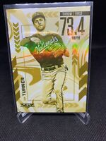 Trea Turner 2020 Topps Fire Gold Minted Arms Ablaze #AA-15 SP ( Nationals )