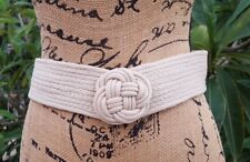 Vintage 80's Size Small Braided Poly/Jute Belt