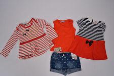 Kombi 2x Tunika Kleid + Shirt Ladybird+ Jeans Shorts, Gr. 86 92, neu