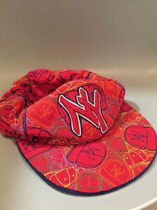 New York Yankees Red Embroidered Captian Headwear Hat Mens Baseball Cap M