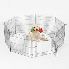 Puppy Dog Cat Chicken Rabbit Guinea Pig 8 Panel Metal Cage Fence Hutch Play Area