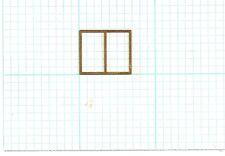 Brass Etched Window Frame 10-Piece Lot O HO N Scale Train Modelmaking (ES-009)