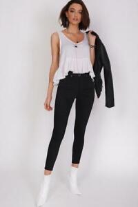 Refuge Denim Clothing Onyx 7/8 Gelato Leg Jean HIGH RISE - Black