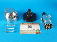 Metal 7 Pin 12N Plug & Socket with Gasket Seal & Bolts for Trailers & Caravan