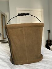 Antique Minnow Bucket Creel Collapsible Canvas The Planet Co