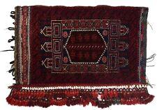 4290 # Stunning Handmade Old Baluchi Cushion 100% Wool Rug 102 x 64 cm