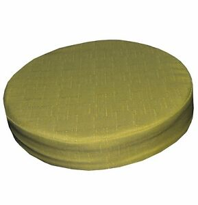 Qh05r Lime Olive Thick Cotton Blend 3D Round Seat Cushion Cover Custom Size