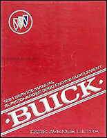 1991 Buick Park Avenue Ultra Supercharged Engine Shop Manual 3800 Repair Service