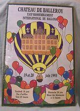 CHATEAU DE BALLEROY XVII RASSEMBLEMENT INTERNATIONAL DE BALLOONS FORBES POSTER