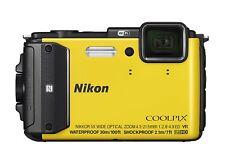 Nikon COOLPIX AW130 Yellow Waterproof Compact Digital Camera 5X Zoom Lens EMS