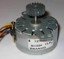 Sanyo Stepper Motor w/ 17.5mm 20 Tooth Gear  -  12 V  -  7.5 deg / step - 42mm D