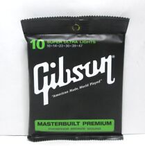 Gibson SAG-MB10 Pho Bronze Wound Acoustic Guitar Strings Super Ultra Light 10/47