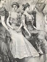 French MODE ILLUSTREE SEWING PATTERN Dec 16,1900 BALL GOWNS ; ROBE SIMPLE