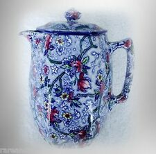 Faience vintage hot water jug floral designs -Maling chintz FREE SHIPPING
