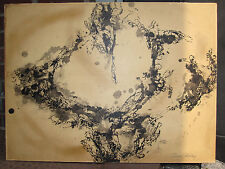 VINTAGE MID CENTURY MODERN AMERICAN ABSTRACT PAINTING FEINGARTEN GALLERY CHICAGO