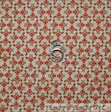 BonEful Fabric FQ Cotton Quilt VTG Brown Tan Heart Calico Tiny Primitive Country
