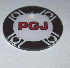 WORLD POKER TOUR By STERN ORIGINAL NOS PINBALL MACHINE PLASTIC PROMO KEYCHAIN