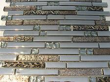 """! Glasmosaik """" Edelstahl-Metall-optik """" Fliese silber mosaik ornament Effekt TOP"""