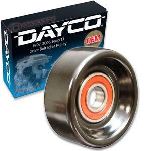 Dayco Drive Belt Idler Pulley for 1997-2006 Jeep TJ 2.5L 4.0L L4 L6 Engine mj