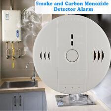 Carbon Monoxide and Smoke Alarm Sensor Warning CO Smoke Detector weiß