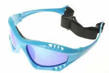 Polarized Water Sport Sunglasses Strap Kitesurfing Glasses Blue Mirror 603