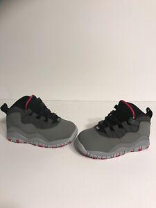 2018' Nike Air Jordan X Retro Dark Smoke Grey Rush Pink Infant Toddler Girl 7C