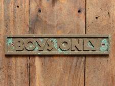 """BOYS ONLY"" New Old Style Cast Bronze Resin Child's Bedroom, Boys Room Plaque"