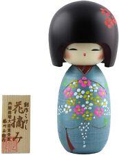 Giapponese Creation Kokeshi Bambola Fiore Raccogliere Kimono Interno Kyoto