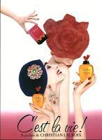 Publicité ancienne parfum Christian Lacroix c'est la vie 1989 issue de magazine