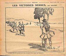 Humour Victoire Armée Serbe Serbie Serbia Army Espion Dessin Hautot WWI 1916