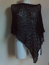 NEW WOMENS KNIT PONCHO SHAWLS STOLE GIFT NIGHT PARTY  SCARVES VINTAGE HOLIDAY