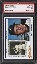 1978 Topps #721 Billy Martin - Yankees - PSA 10 - 16651037
