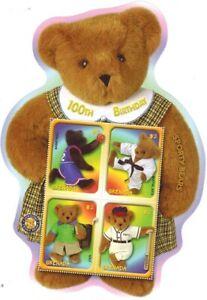 Teddy Bears, Sporty Bears, Grenada 2002 Odd shape MNH SS