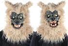 Animated Werewolf Blonde Mask Growling Howling Halloween