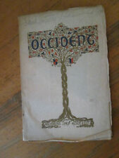OCCIDENT Magazine February, 1913 University California Berkeley