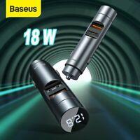 Baseus Auto FM Transmitter Bluetooth 5.0 MP3 Player KFZ 18W Schnell Ladegerät
