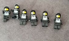 6 x Blacktron minifigures space minifig glued could be Lego.1980s 1990s style