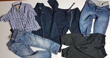 Bundle Lot x 8pc Bleu & Gris Garçon Vêtements 4 CHEMISES 4 pantalon taille 12-18 mois