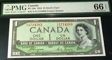 2 CONSECUTIVE 1967 Replacement / Star BC-45bA-i BANK OF CANADA $1 PMG GRADED