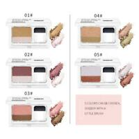 Fashion Double Color Women's Lazy Shadow Eyeshadow Makeup Palette