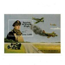 VINTAGE CLASSICS - Sierra Leone 1421 - WWII Movies - Souvenir Sheet - MNH