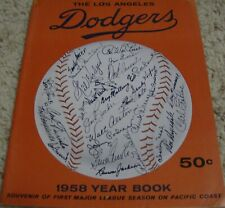 1958 LOS ANGELES DODGERS YEARBOOK 1ST YEAR IN LA MLB BASEBALL RARE WEST COAST