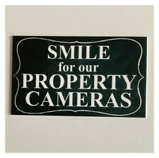 Smile For Our Property Cameras Vintage Sign Retro Black & White