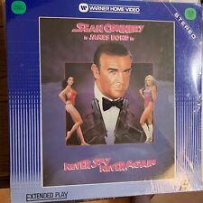 "Never Say Never Again : Bond 007  - 12""  Laserdisc Buy 6 for free shipping"