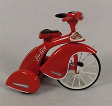 MINIATURE RED SKY KING TRICYCLE DIE CAST BRUNSWICK CORP. - MOVEABLE PARTS~