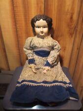 "Vintage HARTFELDT 24"" Porcelain Doll ~ Molded Hair ~ Collectible ~ RARE"