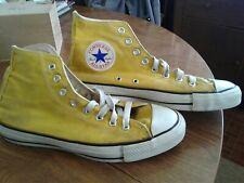 Vtg Rare Bright Yellow Usa Converse Chuck Taylor All Star Mens Hi-Tops Sz 8